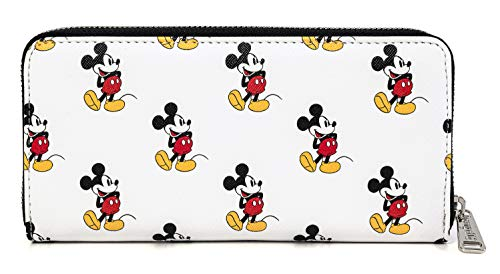 Loungefly Disney Classic Mickey Mouse All Over Print Zip Wallet