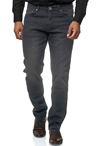 Jeel Herren-Jeans - Regular Fit Straight Cut - Stretch - Jeans-Hose Basic Washed 05-grau 36W / 32L