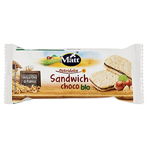 Matt Snacksnello Sandwich Nocciola Bio, 20g