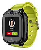 XPLORA XGO 2 - Telefon Uhr für Kinder (SIM-frei) - 4G, Anrufe, Nachrichten, Schulmodus, SOS-Funktion, GPS, Kamera, LED-Licht und Schrittzähler - 2 Jahre Garantie (GRÜN)