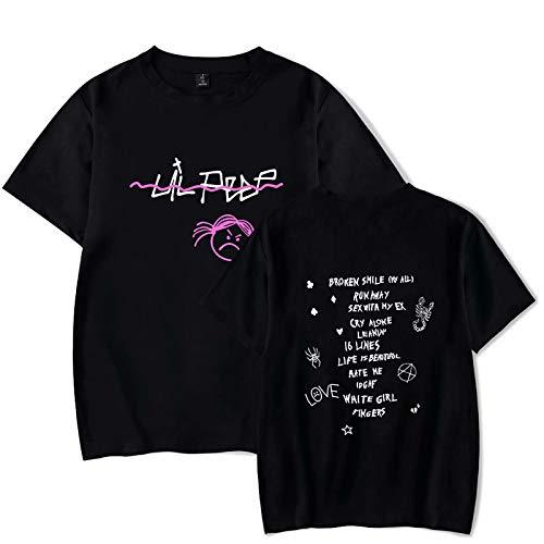 Camiseta Unisex R.I.P Lil Peep Love Impreso Moda Deporte Hip Hop Sudadera con Capucha Chaqueta Pullover Tops para Hombres Mujeres