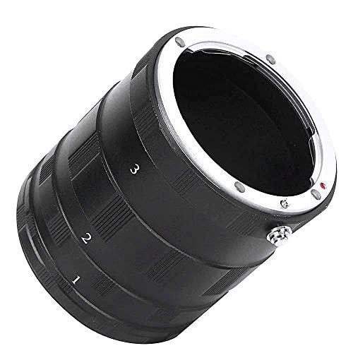 Tubo de extensión Macro Cámara de aleación de Aluminio Anillo de Lente Macro Adaptador de extensión de Disparo de Primer Plano para cámaras para para Nikon AI Mount