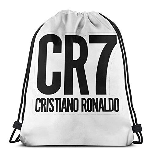 Cr7 - Bolsa de deporte con cordón para hombre y mujer, diseño de jugador de fútbol