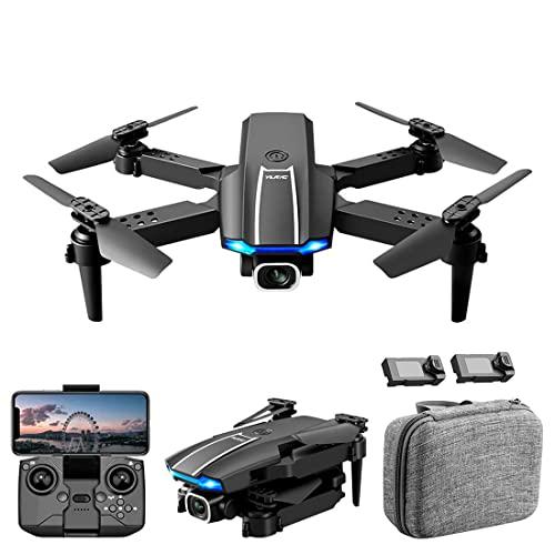 JJDSN Mini Drone con Fotocamera per Adulti, Drone FPV 4K UHD Doppia Fotocamera, Quadricottero RC Pieghevole con Flip 3D, Volo Traiettoria, Gesto Foto/Video, modalità Headless, Borsa e 2 Batterie