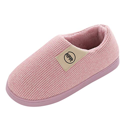 TOPKEAL Zapatillas de algodón para Mujer 6/7 Reino Unido Púrpura