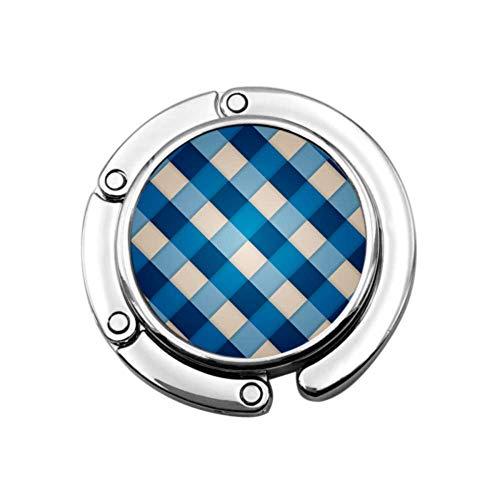Diseño geométrico Azul Limpio Bolso de Mesa de suspensión Bolso de Mesa de suspensión Diseños únicos Sección Plegable Bolsas de Almacenamiento Colgador de Mesa