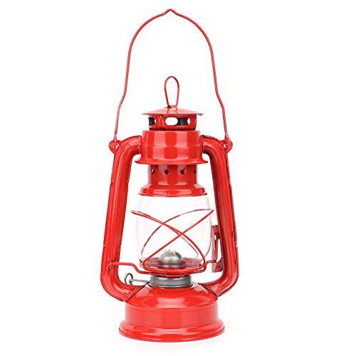 nobrands Petroleumlampe Vintage Eisenlaterne Öllampe Party Pub Dekoration Geschenk(rot)