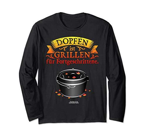 Grillen & Dopfen Dutch Oven Spruch | das Original Langarmshirt