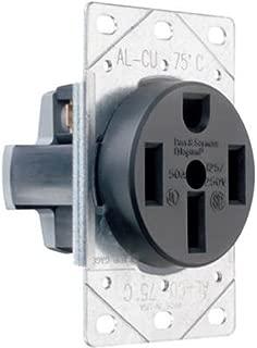 Legrand  -Pass & Seymour 3894CC6 Flush Outlet 50-Amp 125-volt/250-volt Three Pole Four Wire
