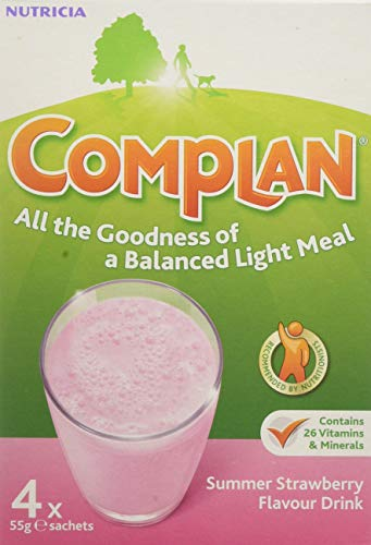 Complan Multipack Sachet, Strawberry, 220 g, 4-Count