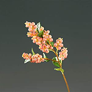 ZJJZH Artificial Decorative Flowers Simulation Snowball Fake Flower Home Accessories Living Room Restaurant Flower Garden Simulation Flower Fruit 50cm Flower Products Include:Artificial Flowers.