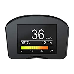 top 10 obd2 gauge displays OBDII Speedometer km / hmph Heads-up Display Battery Voltage Engine Charging Voltage Temperature…