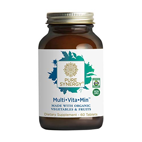 Pure Synergy Multi Vitamin (60 Tablets) 2 A Day Multivitamin Made w/ Organic Fruits & Veggies
