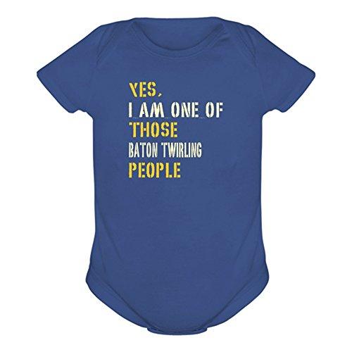 Yes I Am One of Those Baton twirling People Baby Body, Stahlblau, 12 m