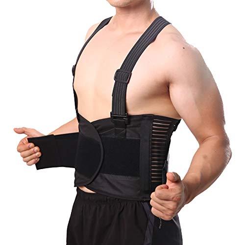 Pain Belt Back Corset for Men Heavy Lift Work Back Support Brace Shoulder Strap Lumbar Support Belt Posture Corrector Unsex L
