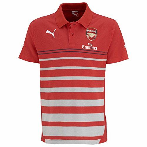 PUMA, Maglietta Divisa Arsenal Uomo, Rosso (High Risk Red-Gray Dawn-Estate Blue-White), S