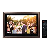 Digital Photo Frame Funcare 13.3'' Large WiFi Digital Picture Frame with HD Touchscreen, Remote Control, Motion Sensor, 16GB Storage, Easy to Share Photos and Videos via AiMOR APP, Wall Mountable