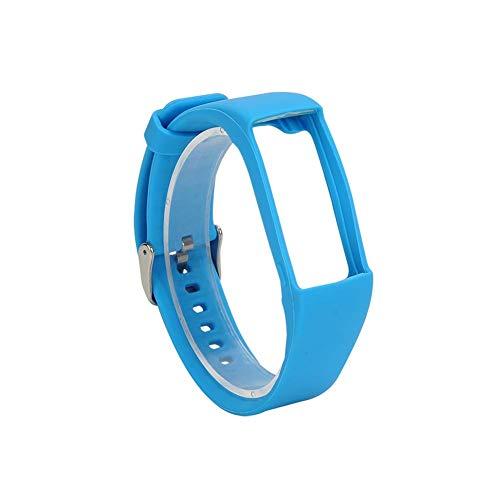 Correa de reloj de silicona para Polar A360 A370 Pulsera Correa de muñeca de silicona Reemplazo de pulsera inteligente para Polar Fitness Tracker Azul