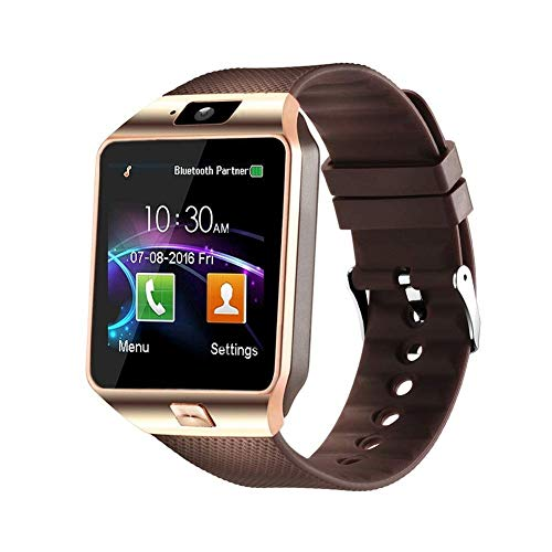 Padgene DZ09 Bluetooth Smartwatch,Touchscreen Wrist Smart Phone Watch Sports Fitness Tracker with SIM SD Card Slot Camera Pedometer Compatible with Android Phone for Kids Men Women
