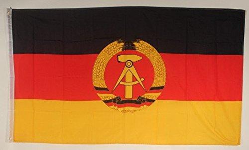 DDR République démocratique allemande Drapeau Grand format aux intempéries 250 x 150 cm Drapeau