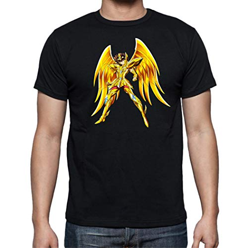 The Fan Tee Camiseta de Hombre Caballeros del Zodiaco Pegaso Dragon Sain Seyia Fenix 002 L