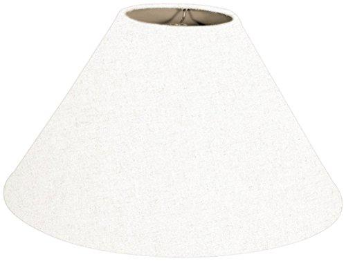 Royal Designs Coolie Empire Hardback Lamp Shade, Linen White, 6 x 16 x 10