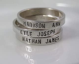 Best sterling silver name rings Reviews