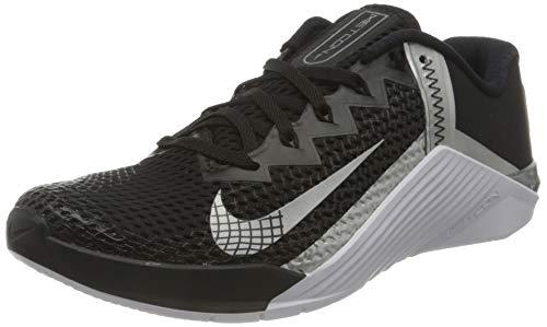Nike Wmns Metcon 6, Zapatillas Deportivas Mujer, Black Mtlc Silver Mtlc Silver, 38 EU