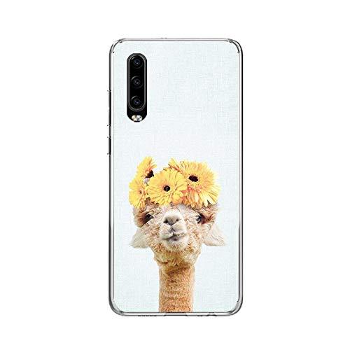 Alpaca Hierba Barro Caballo Para Huawei P10 P20 Lite 2019 P30 P40 Pro Funda Para Huawei P Smart 2020 Nova 7SE Teléfono Funda Diseño Vogue Coque-C144 (8)-P30