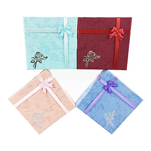Jasminelady - Caja de regalo para collar, pulsera, collar, collar, joyería con lazo
