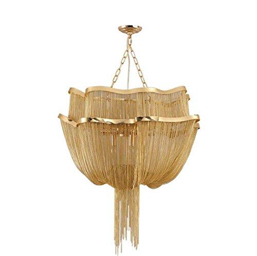 Lamp met hanger, postmodern persoonlijkheid creatieve persoonlijkheid van aluminium ketting kroonluchter woonkamer eetkamer patroon luxe goud decoratie hanger lampen E14 zonder lichtbron