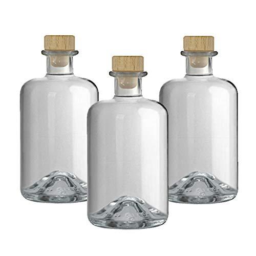 27 Apotheker Flaschen 500 ml Glasflaschen leer Essigflaschen Ölflaschen Likörflaschen VERSAND INNERHALB 24 STD!