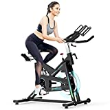 pooboo Pro Indoor Cycling Bike Stationary, Magnetic Resistance Belt Drive Exercise Bike, High Weight Capacity, Heavy Duty Flywheel for Home Office Cardio Workout Bike Training Max 330lb (X6)