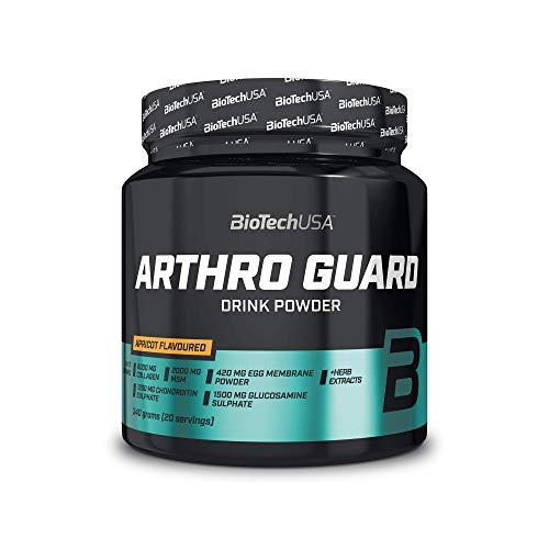 BioTechUSA Arthro Guard Bevanda in polvere aromatizzata con glucosammina, condroitina, MSM, vitamina C, estratti vegetali e dolcificante, 340 g, Albicocca