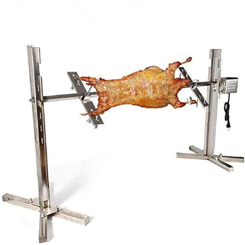 TOPQSC BBQ Kit de Rôtissoire Électrique 15W Brochettes pour Barbecue Universel électrique extérieur Grand Gril pour rôtissoire - jusqu'à 70 kg de Charge Tournebroche trépied