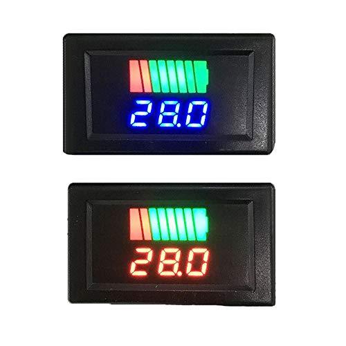 JJBHD Electronic Accessoires & Supplies 12-60V Auto Blei Säure Batteriel Ladungspegelanzeige Batterietester Lithium Batteriekapazitätszähler Dual LED Tester Digital Voltmeter Um Ihnen die Qualität der
