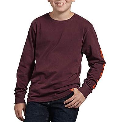 Dickies Kids Kids' Big Long Sleeve Graphic Tee, napa red, Medium