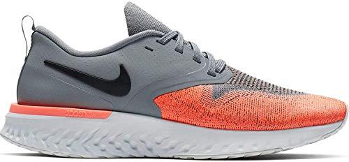 Nike Women's Odyssey React Flyknit 2 Running Shoe Cool Grey/Black/Bright Mango Size 10 M US
