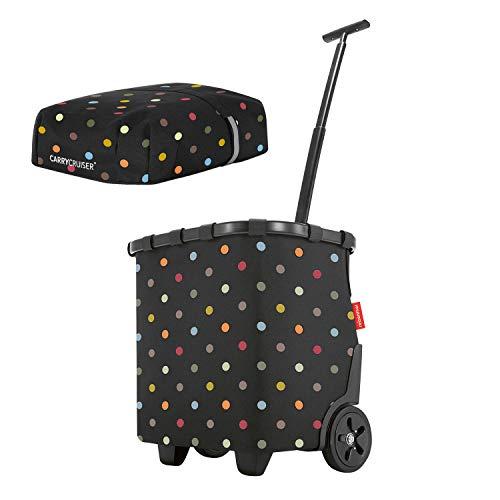 Reisenthel carrycruiser 40 Liter Einkaufstrolley + Cover Black dots