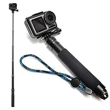 EaxanPic Extendable Aluminum Selfie Stick Monopod for GoPro Handheld Telescoping Monopod Hand Grip for GoPro Max/9/8/7/6/5/4,DJI OSMO,Insta 360 One R Action Camera  Hand Grip - Simple Version