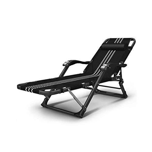Opklapbare ligstoel Dekloungestoel, Zero Gravity Opvouwbare schuine stoel voor buiten Strandgazon Camping Ligstoel Indoor Lunchpauze Luie stoel
