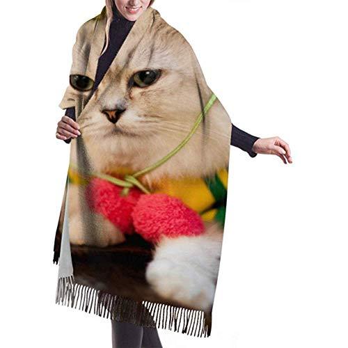 Archiba Winter Schal Cashmere Feel Perserkatze Ware Lustiger Hut Bunte Schals Stilvolle Schal Wraps Weiche Warme Decke Schals Für Frauen