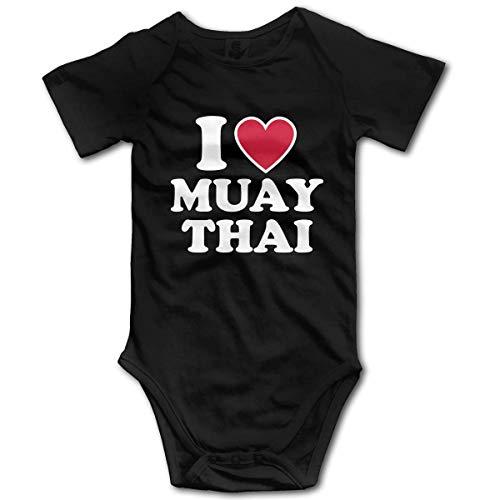 Ich Liebe Muay Thai-1 Neugeborene Mädchen & Jungen 100% Bio-Baumwolle Outfits Sonnenanzug Kleidung 18 Monate