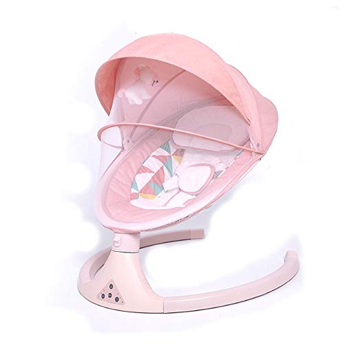 Moter Infant Electric Rocking Chair, Smart Bluetooth Electric Cradle Crib to sleep, comfort baby, Smart electric swing chair,E