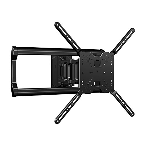 """Sanus Full-Motion TV Wall Mount for 37"""" to 80"""" Flat Screen TVs - Smoothly Extends, Tilts & Swivels - Improves Viewing Angles - OLF18-B1"""
