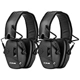 ZOHAN EM054 Electronic Ear Protection for Shooting Range with Sound Amplification Noise Reduction, Ear Muffs for Gun Range - Black …