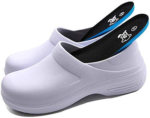 [マイトン] 厨房靴 コックシューズ 作業靴 厨房 食品関係作業用 調理靴 キッチンシューズ 24.0cm 耐油 耐滑 防水 滑り止め 白39