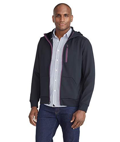 UNTUCKit Full-Zip Hoodie Men's Workout Sweatshirt – Gym Sports Jacket, Black, Regular Fit, Large