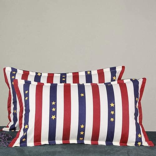 JONJUMP 2 fundas de almohada con cremallera para estudiantes adultos de 48 x 74 cm, funda de almohada de tela lijada gruesa
