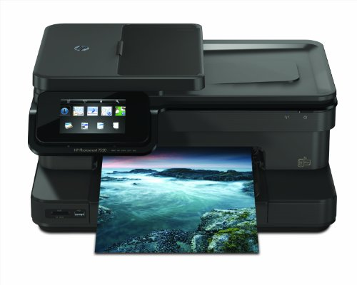 HP Photosmart 7520 e-All-in-One Tintenstrahl Multifunktionsdrucker (A4, Drucker, Scanner, Kopierer, Wlan, USB, 9600x2400)